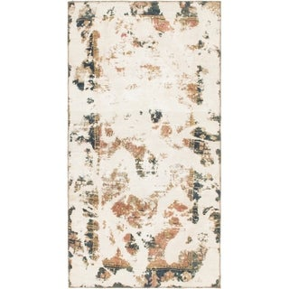 Hand Knotted Ultra Vintage Wool Area Rug - 3' 7 x 6' 8