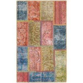 Hand Knotted Ultra Vintage Wool Area Rug - 2' x 3' 3