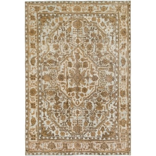 Hand Knotted Ultra Vintage Wool Area Rug - 6' 4 x 9' 5