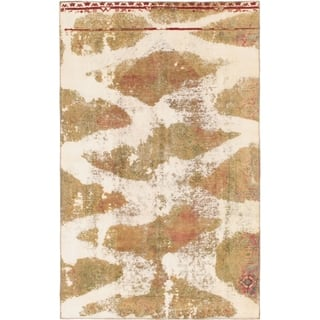 Hand Knotted Ultra Vintage Wool Area Rug - 5' 10 x 9' 5