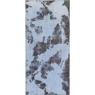 Hand Knotted Ultra Vintage Wool Runner Rug - 4' x 8' 8