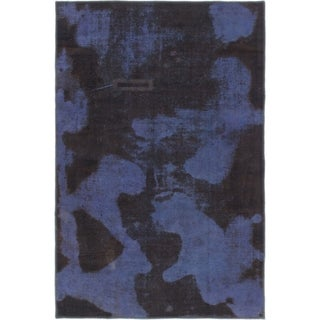 Hand Knotted Ultra Vintage Wool Area Rug - 4' x 6'