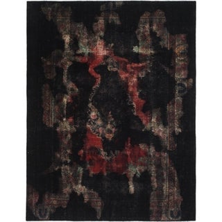 Hand Knotted Ultra Vintage Wool Area Rug - 7' 7 x 9' 10