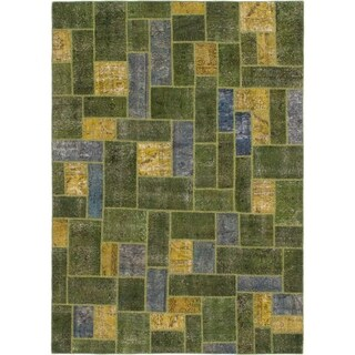 Hand Knotted Ultra Vintage Wool Area Rug - 7' 4 x 10' 4