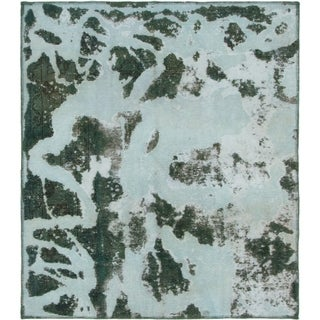 Hand Knotted Ultra Vintage Wool Area Rug - 4' 5 x 5' 2