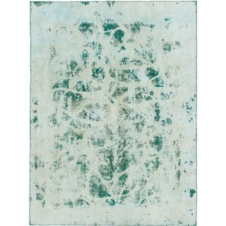 Hand Knotted Ultra Vintage Wool Area Rug - 8' 8 x 11' 8