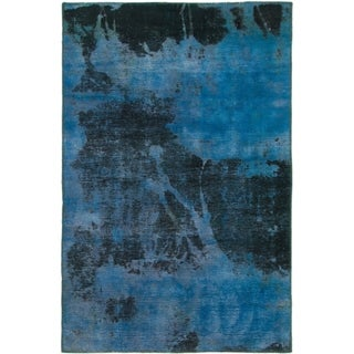 Hand Knotted Ultra Vintage Wool Area Rug - 3' 8 x 5' 6