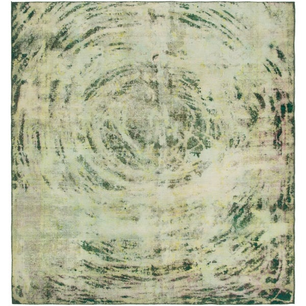 Hand Knotted Ultra Vintage Wool Square Rug - 8' 3 x 8' 9