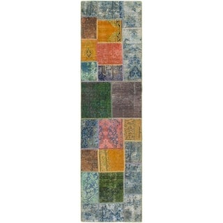 Hand Knotted Ultra Vintage Wool Runner Rug - 2' 6 x 9' 8