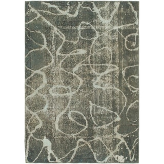 Hand Knotted Ultra Vintage Wool Area Rug - 4' 5 x 6' 4