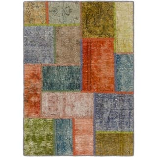 Hand Knotted Ultra Vintage Wool Square Rug - 2' 9 x 3' 10