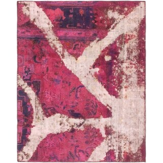 Hand Knotted Ultra Vintage Wool Square Rug - 4' x 5'