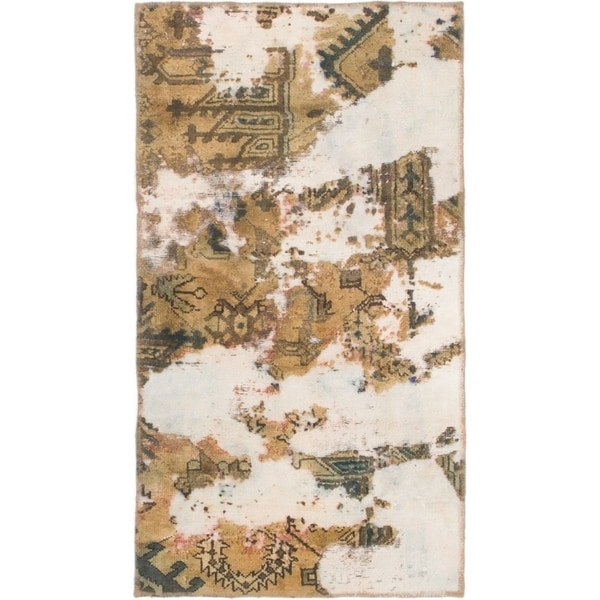 Hand Knotted Ultra Vintage Wool Area Rug - 2' 7 x 4' 8