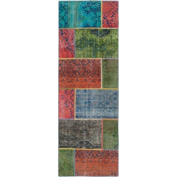 Hand Knotted Ultra Vintage Wool Runner Rug - 2' 8 x 7' 8