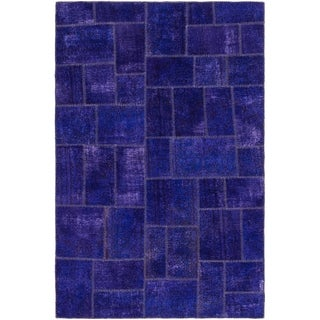 Hand Knotted Ultra Vintage Wool Area Rug - 6' 7 x 10'