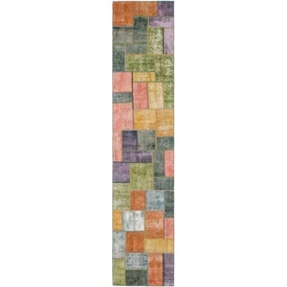 Hand Knotted Ultra Vintage Wool Runner Rug - 2' 9 x 13' 8
