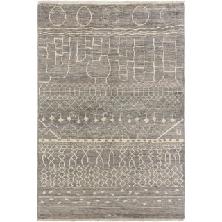 ECARPETGALLERY  Hand-knotted Shalimar Grey Wool Rug - 6'0 x 8'9