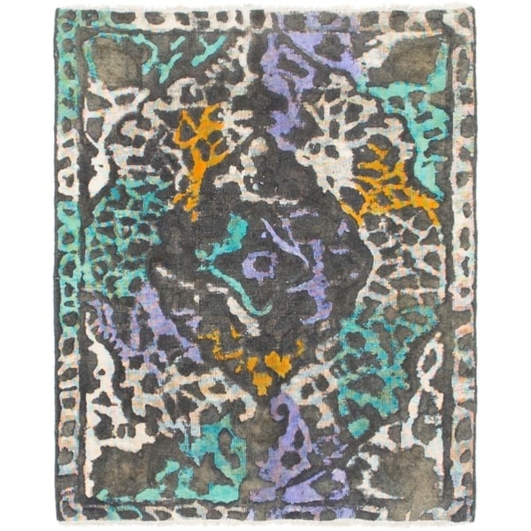 Hand Knotted Ultra Vintage Wool Area Rug - 2' 2 x 2' 9