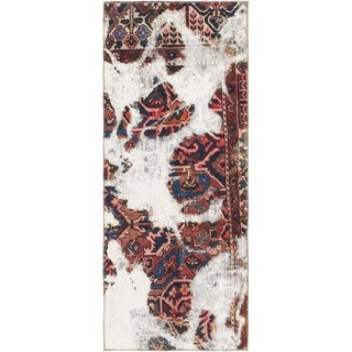 Hand Knotted Ultra Vintage Wool Runner Rug - 2' 9 x 6' 9