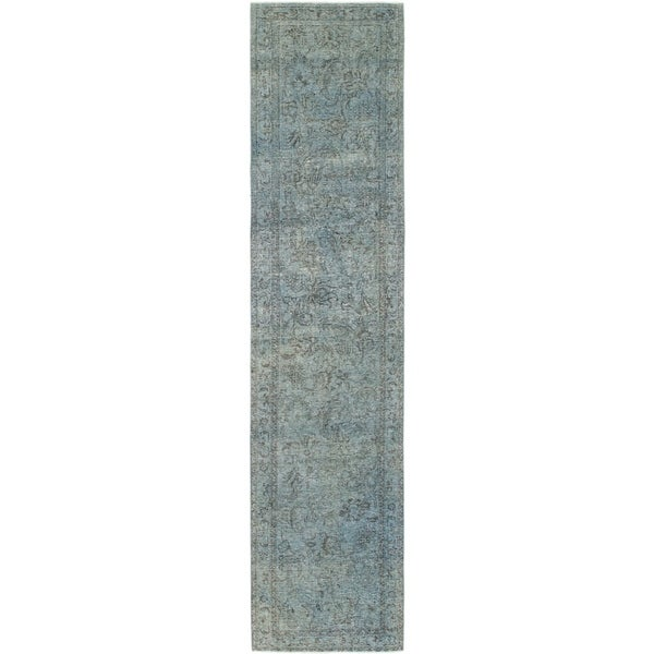 Hand Knotted Ultra Vintage Wool Runner Rug - 2' 8 x 12' 4