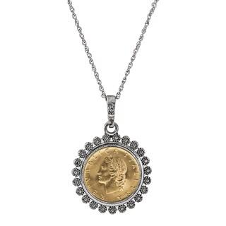 Miss Italy Italian 20 Lira Coin Necklace