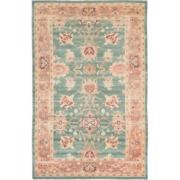 Shop ECARPETGALLERY Hand-knotted Authentic Ushak Teal Wool