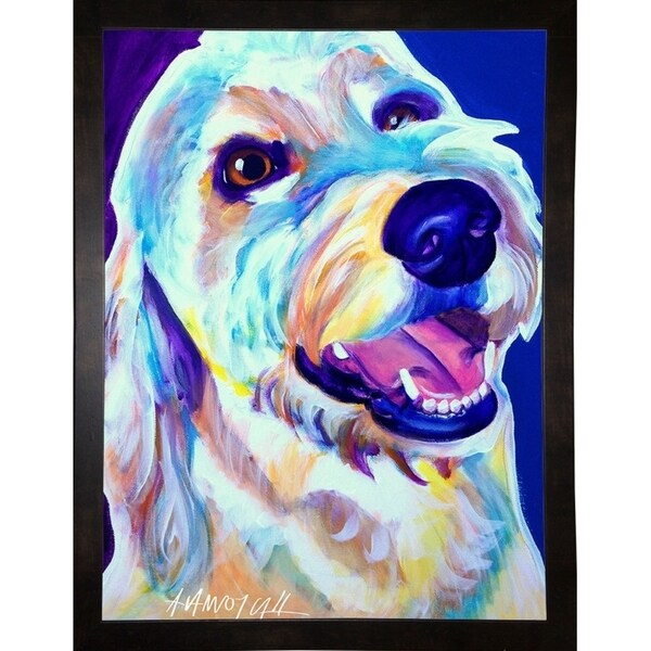 """Goldendoodle Penny-DAWART145120 Print 14""""x10.5"""" by DawgArt"""