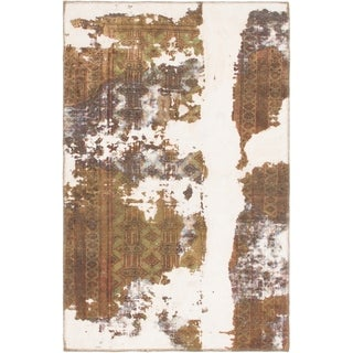 Hand Knotted Ultra Vintage Wool Area Rug - 3' 4 x 5' 3