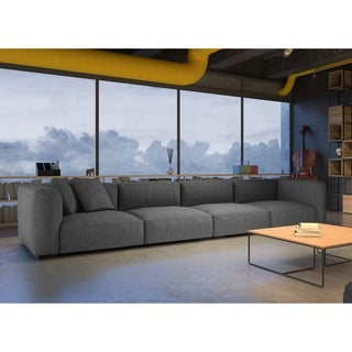 Made to Order Roche Studio Serenity Grey Fabric Sectional Sofa