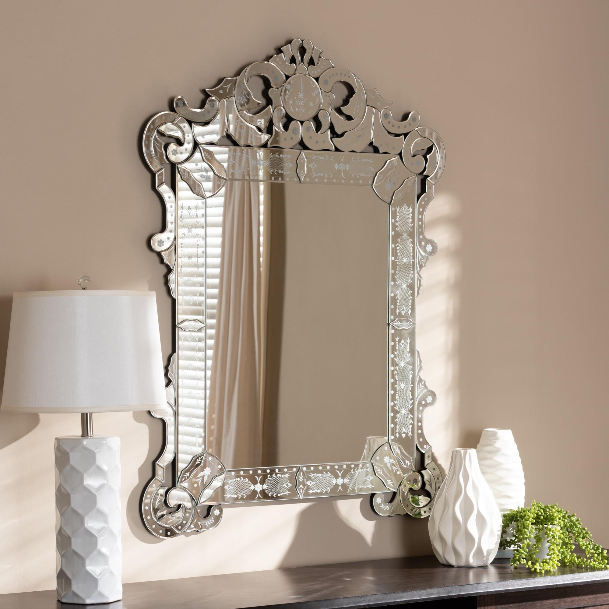 Silver Venetian Style Wall Mirror