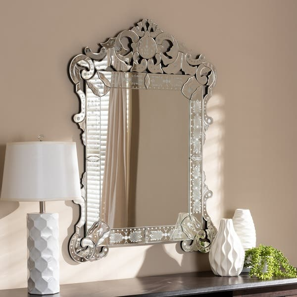 Shop Traditional Silver Venetian Style Wall Mirror By Baxton Studio Antique Silver On Sale Overstock 24081140