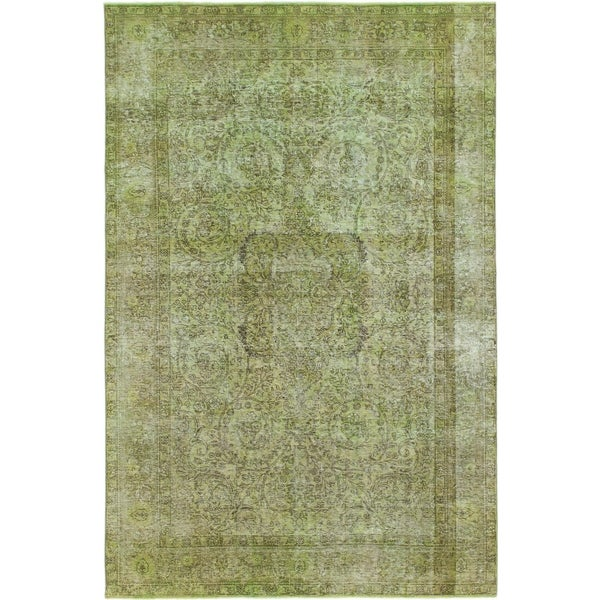 Hand Knotted Ultra Vintage Wool Area Rug - 6' 5 x 9' 9