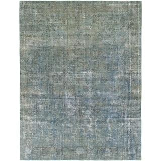 Hand Knotted Ultra Vintage Wool Area Rug - 9' 7 x 12' 9