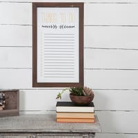 Rustic Wood To Do List Wall Mount Whiteboard