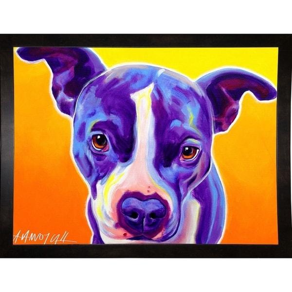 "Pit Bull Sadie-DAWART145126 Print 10.5""x14"" by DawgArt"