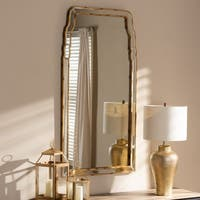 Queen Anne Style Antique Gold Wall Mirror by Baxton Studio - Antique Gold