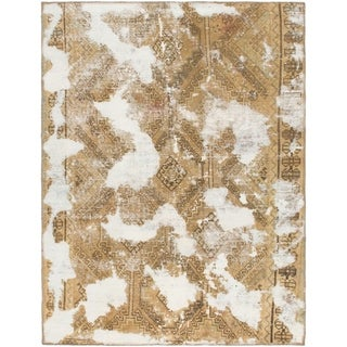 Hand Knotted Ultra Vintage Wool Area Rug - 4' x 5' 5