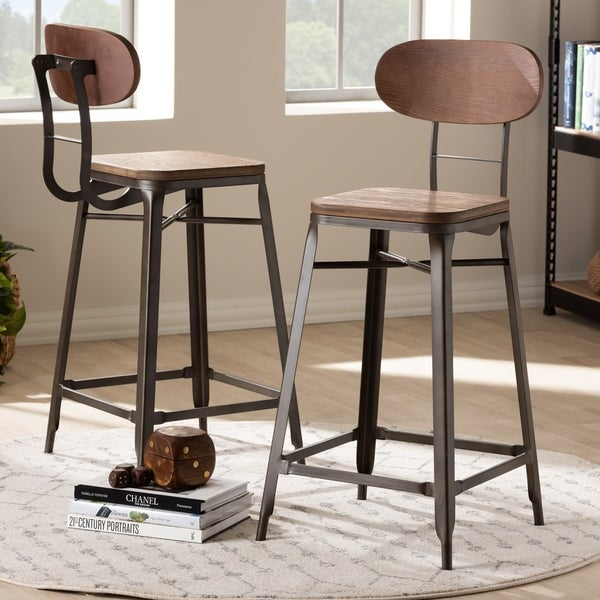 Shop Industrial Stackable Counter Stool 2 Piece Set By