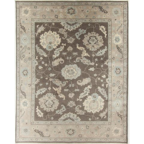 """Oushak Hand-Knotted Rug - 7'10"""" x 9'11"""""""