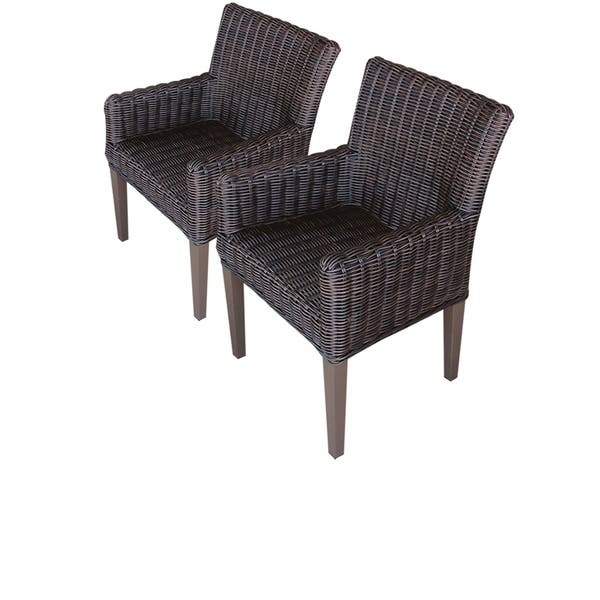 Enjoyable Venice Resin Wicker Dining Chairs With Arms Set Of 2 Alphanode Cool Chair Designs And Ideas Alphanodeonline