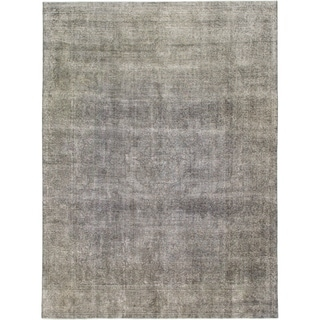 Hand Knotted Ultra Vintage Wool Area Rug - 9' 6 x 12' 9