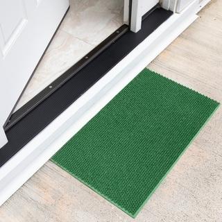 DirtOff Rectangular Mat Green Elanji Pattern Doormat