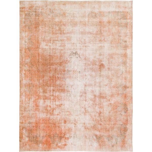 Hand Knotted Ultra Vintage Wool Area Rug - 9' 9 x 12' 10