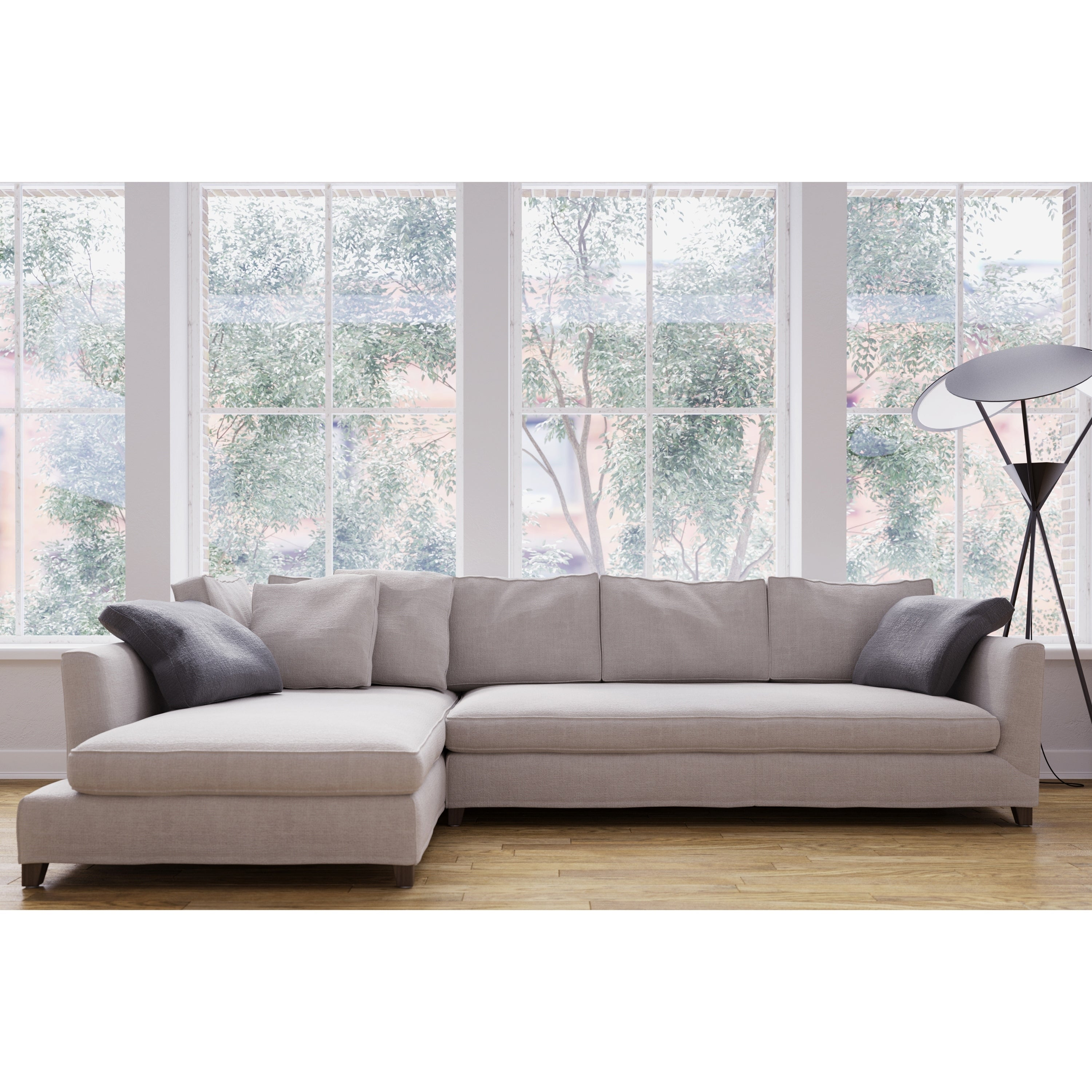 Incredible Made To Order Roche Studio Jasper Off White Fabric Sectional Sofa Ibusinesslaw Wood Chair Design Ideas Ibusinesslaworg