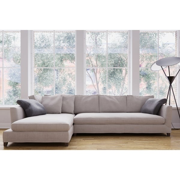 Delicieux Made To Order Roche Studio Jasper Off White Fabric Sectional Sofa