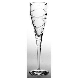 Majestic Gifts European Quality Cut Crystal Flute Champagne Glasses-6 oz. -Set/6- Made in Europe