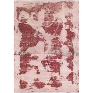 Hand Knotted Ultra Vintage Wool Area Rug - 6' 5 x 9' 2
