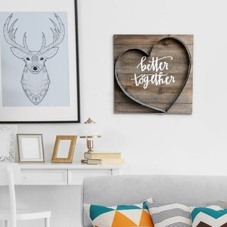 Patton Wall Decor Better Together Metal and Wood Plank Wall Art Décor - Brown