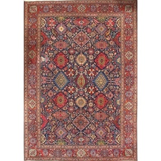 """Pasargad DC Persian Semi-Antique Kashan Hand-Knotted Lamb's Wool Rug - 9'3"""" X 13'2"""""""