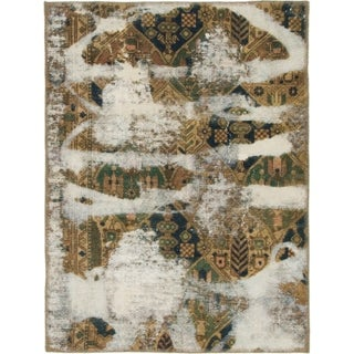 Hand Knotted Ultra Vintage Wool Area Rug - 3' 3 x 4' 4